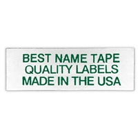 NAME TAPE LABELS - GREEN - 3 LINE