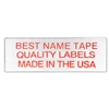 NAME TAPE LABELS - RED - 3 LINE