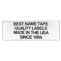 Name Tape Labels - 4 Line