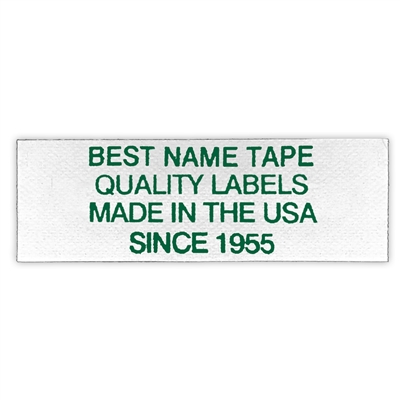 NAME TAPE LABELS - GREEN - 4 LINE
