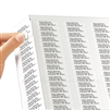 Customizable mailing address labels.