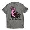 Get back to CAMP QUICK with the Belknap - Take Me To Camp - Shark T-Shirt..