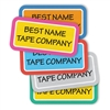 Performance labels for performance clothing. Laundry safe labels for camp.