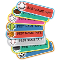 COLOR SPORTS - RECTANGLE PRESS-ON LABELS