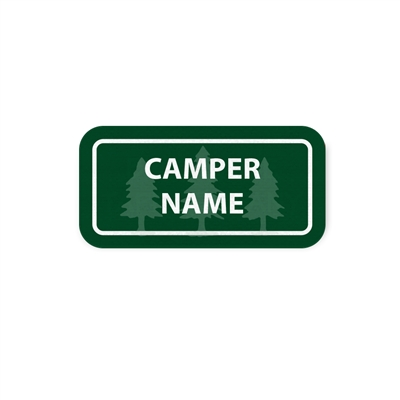 <!009>FRIENDLY PINES CAMP - RECTANGLE PERFORMANCE LABELS