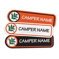 <!006>CAMP KIEVE - LOGO RECTANGLE PRESS-ON LABELS