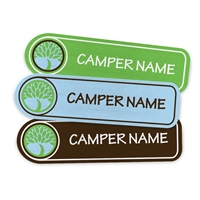 <!006>CAMP LAURELWOOD - LOGO RECTANGLE PRESS-ON LABELS