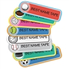 SPORTS - RECTANGLE PRESS-ON LABELS