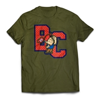 Bunk Captain Signature Mesh logo on a t-shirt.