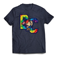 Bunk Captain Signature Tie Dye  logo on a t-shirt.