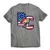 Bunk Captain Signature USA logo on a t-shirt.