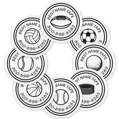 WHITE SPORTS - CIRCLE PERFORMANCE LABELS