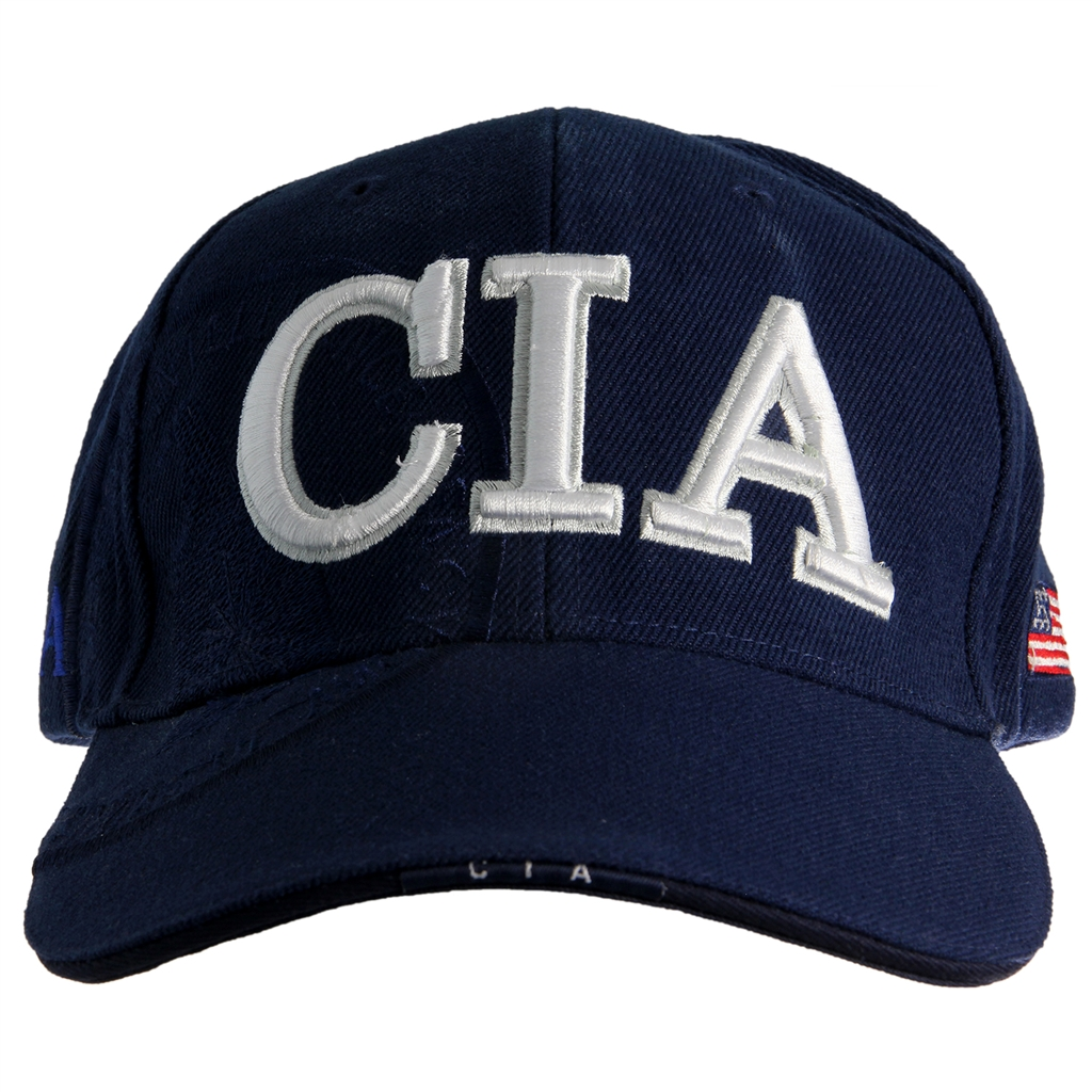 CIA Embroidered Hat, Blue, Embossed, Langley Item