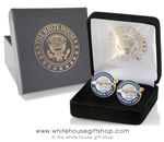 Air Force One Custom Cufflinks, 24K Gold Finished, Custom Presentation Case