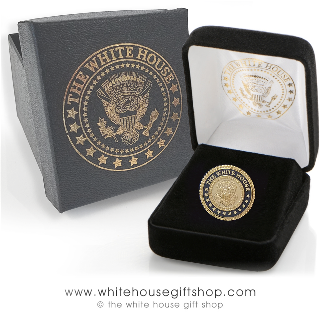 White House Seal Lapel Pins, Presidential Seal pin, custom White House Gift  Shop Jewelry box, Select Package Option