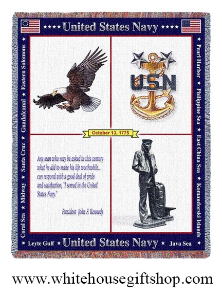 United States Navy Throw Blanket 100 Made In Usa Luxury Cotton