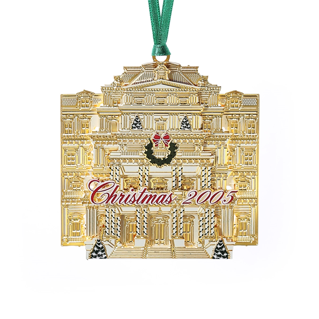 White house christmas ornaments historical society - 2005 White House Ornament Eisenhower Executive Office Building 15 In Collection 24 Kt Gold Finished Now Limiterd Handmade In Usa