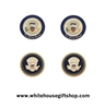 Presidential Seal Cufflink Set, 24K Gold Finishes, Custom Boxes, Elegant White House Guest Style