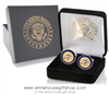 The White House Cufflinks, 24K gold, 3 dimensional,