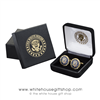 Seal of the President Cuff links, cufflink set of Presidential Seal, White House Eagle Seal, 24K gold finish from Official Gift Shop