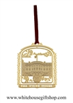 The White House 24 Karat Gold Ornament from the Official White House Gift Shop Annual Gifts Collection. Compare with White House Historical Associatioon.