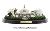 Washington D.C. Panorama Desk Model, Medium Size, 8 inches wide, Capitol, White House, Washington Monument, Jefferson Memorial, Lincoln Memorial, Presidential Seal, from Official White House Gift Shop Est. 1946.