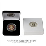 Pentagon Challenge Coin in Great Seal of the United States and White House Gift Shop case
