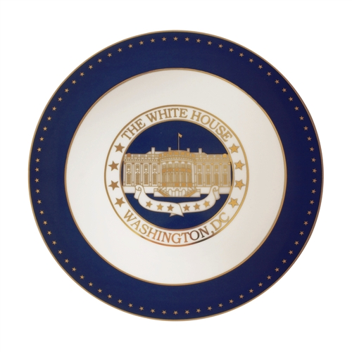 White House Plate Blue and Gold Plate White House Blue Ceramic and Enamel 8.0  with 24KT Gold Highlights and Trim Boxed with White House Gift Shop ...  sc 1 st  White House Gift Shop & White House Plate Blue and Gold Plate White House Blue Ceramic ...