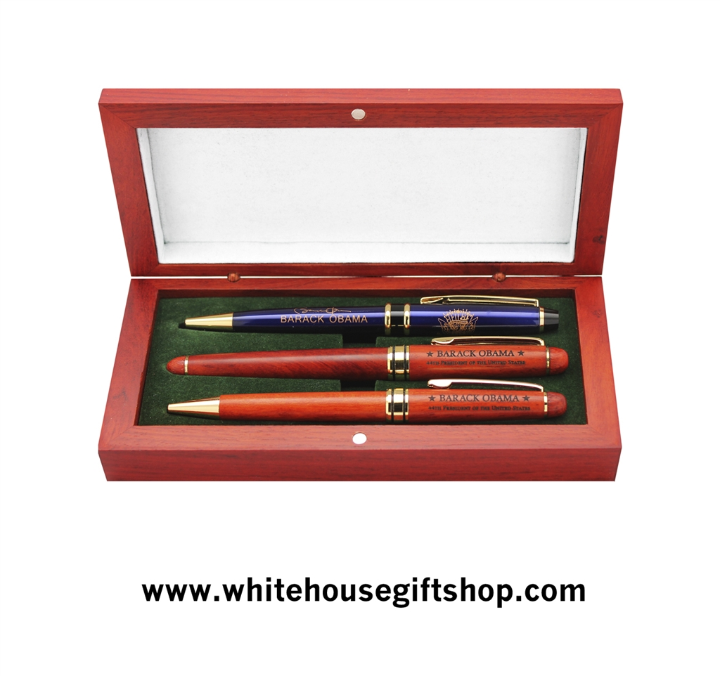 Top Presidential Pens, President Obama 3 Pen Set; 1 Seal Laser Etched  GA51