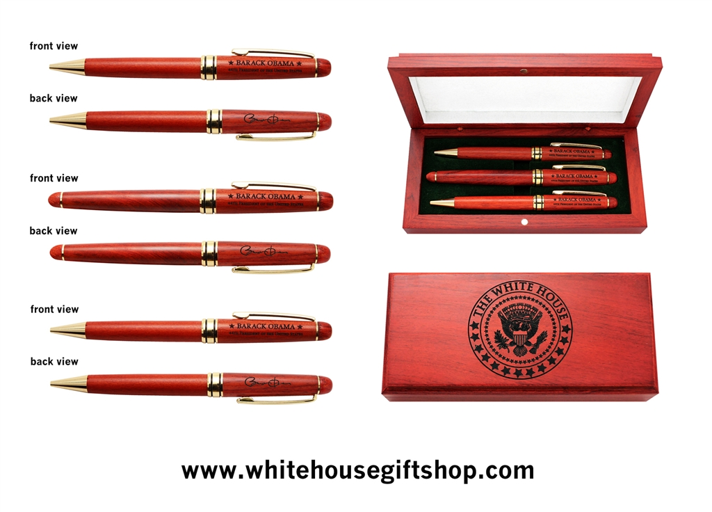 Well-liked President Obama Rosewood Pen Set with Presentation Case from the  QN05