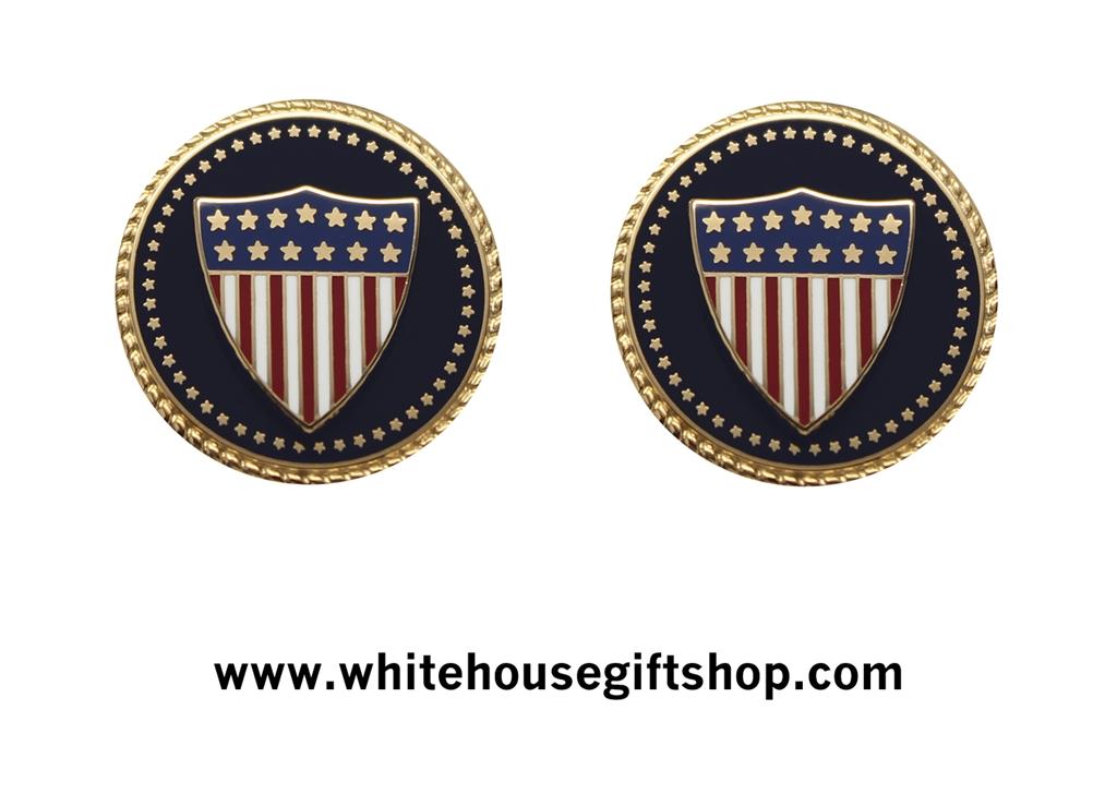Personalized Cufflinks USA Flag Cufflinks United States Flag Cufflinks