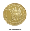Vietnam Memorial Commemorative gold Challenge Coin, protective capsule.