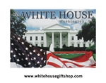 U.S. Flag Magner with White House