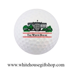 The White House Golf Ball with Seal of the President on Reverse and a Photo of the White House on Front