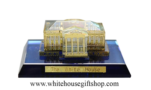 Glass Crystal White House Model