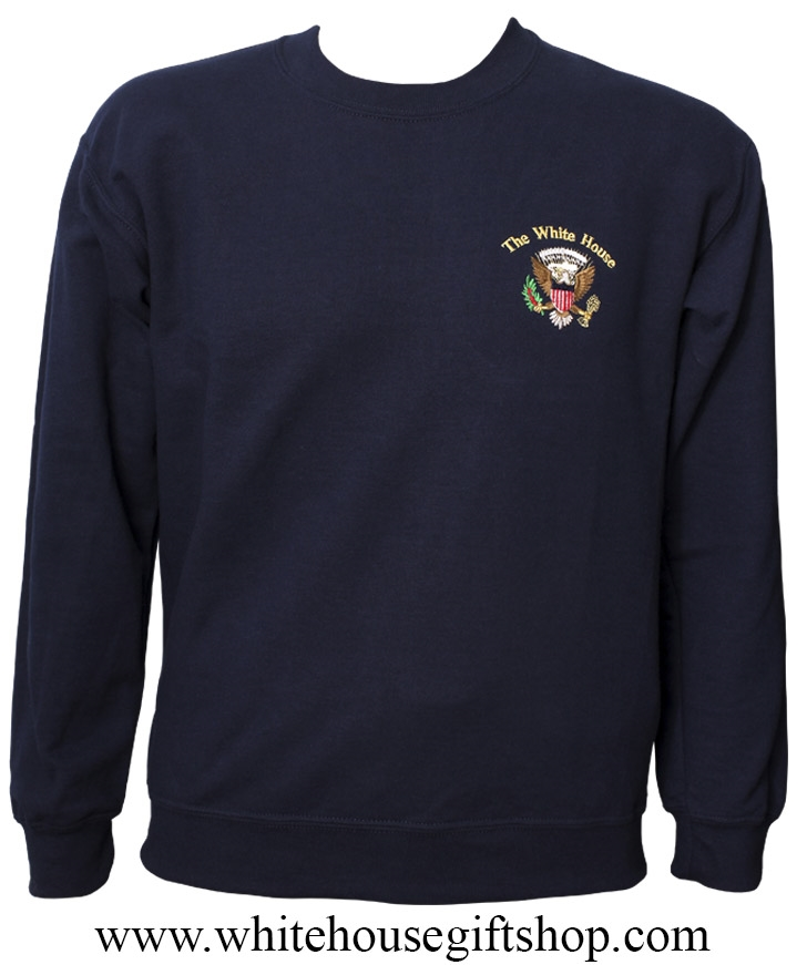 Sweatshirt, White House Presidential Eagle,Embroidered, Deep Navy ...