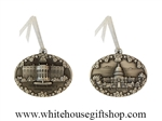 White House & Capitol Pewter Ornaments