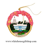 Ceramic Cherry Blossom Festival Ornament