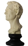 Young Lincoln Bust, White, 13 inches, Memorial