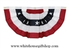 American Flag Cotton Decorative Fan with Stars