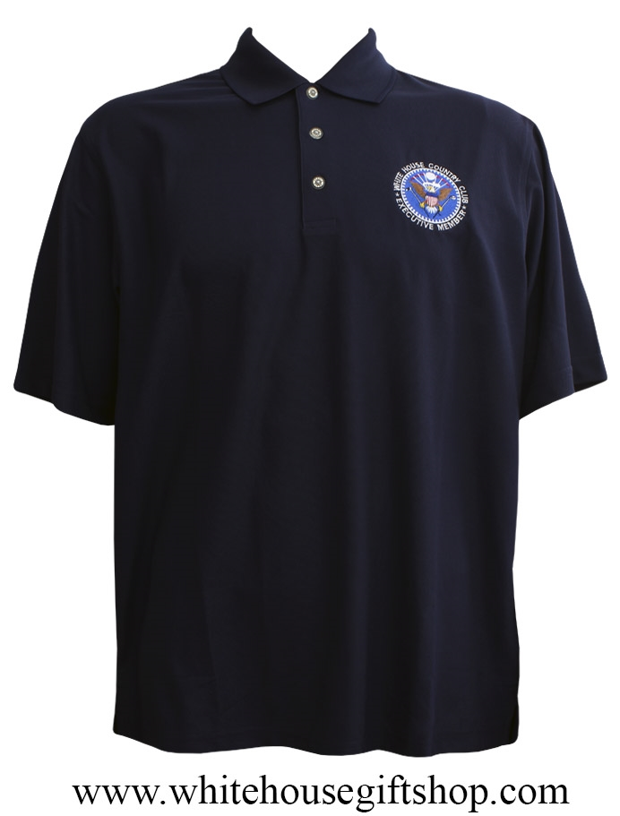 Shirts White House Golf Club Close Out Small Only Pebble Beach Brand Executive Member Presidential Seal Midnight Blue Embroidered Machine Wash Dry