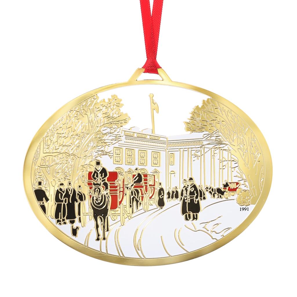 White house christmas ornaments historical society - 1991 White House Ornament