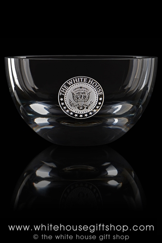 Seal of the President Crystal Glass White House Dining Room Bowl from the Official White House and Historical Gift Shop