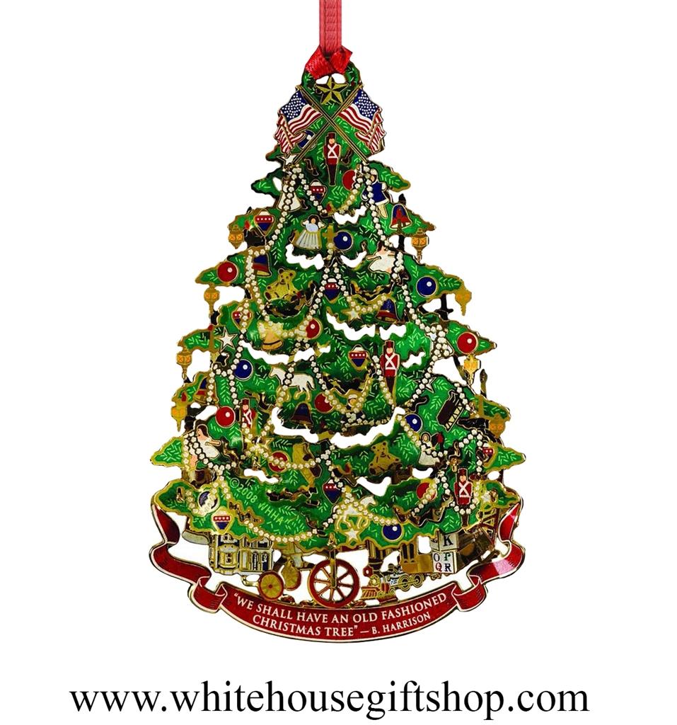 2008 White House Historical Ornament Benjamin Harrison