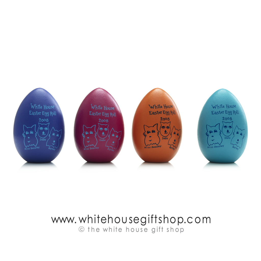 2008 George And Laura Bush Signed Single Wood Egg Rare Official National Park Service White House Easter Egg Roll Wooden Eggsgift Boxcertificate