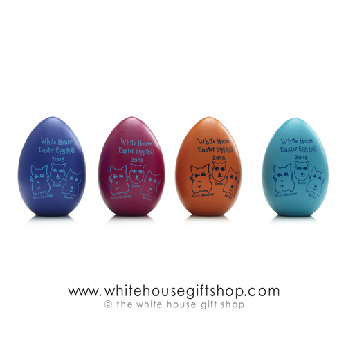 2009 White House Wood Easter Eggs Signed by President Barack Obama and Michelle Obama, Official Egg Roll from National Park Service