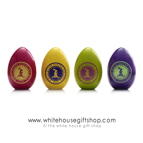 2011 White House Wood Easter Eggs Signed by President Barack Obama and Michelle Obama, Official Egg Roll from National Park Service