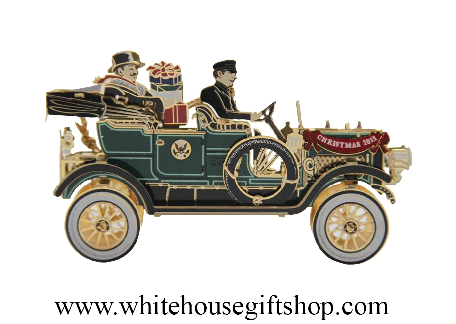 2012 White House Historical Christmas Ornament honors President William  Howard Taft, First Presidential Automobile - 2012 White House Historical Christmas Ornament Honors President