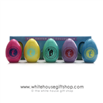 2013 White House Easter Egg, President Obama and Michelle Obama signed wooden eggs, Egg Roll