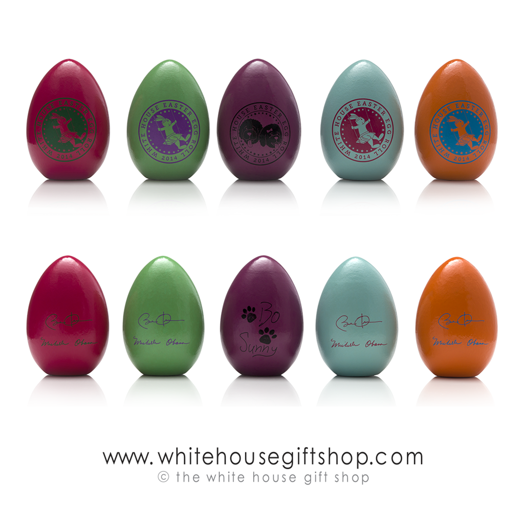 2014 Rare Wood Eggs Obama Signature White House Easter Egg Roll Collection Single Select Color National Park Service Issue Last Available